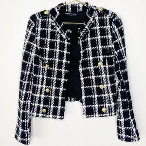 Generation Love Black/White Plaid Tweed Jacket